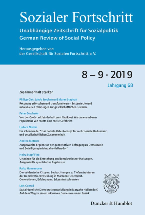 Cover Zusammenhalt stärken (SF 8-9/2019)