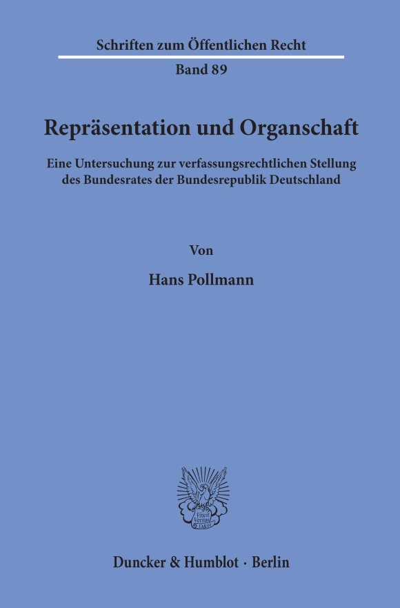 Cover Repräsentation und Organschaft
