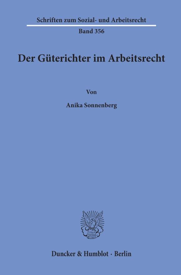 Cover Der Güterichter im Arbeitsrecht