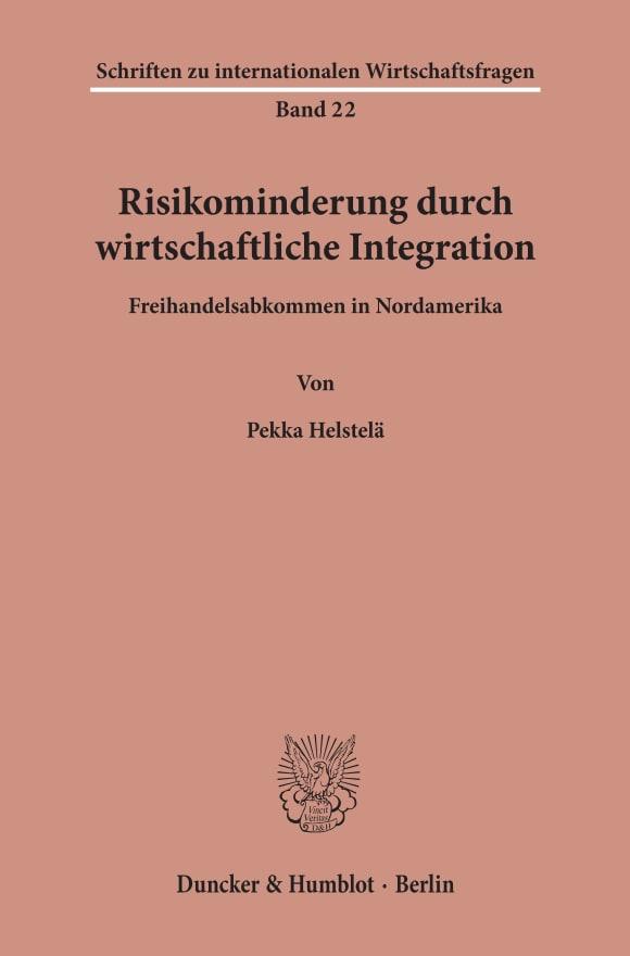 Cover Risikominderung durch wirtschaftliche Integration