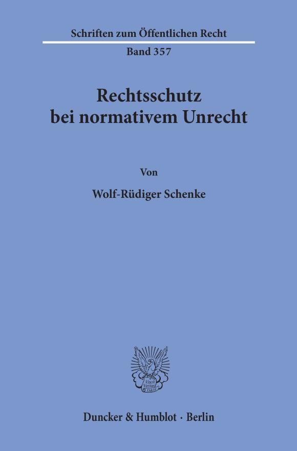 Cover Rechtsschutz bei normativem Unrecht