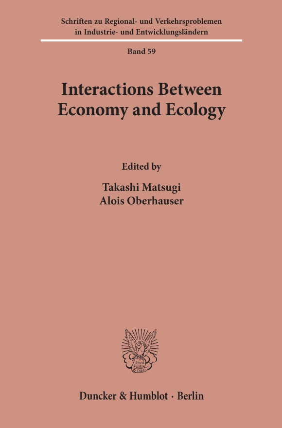 Cover Interactions Between Economy and Ecology