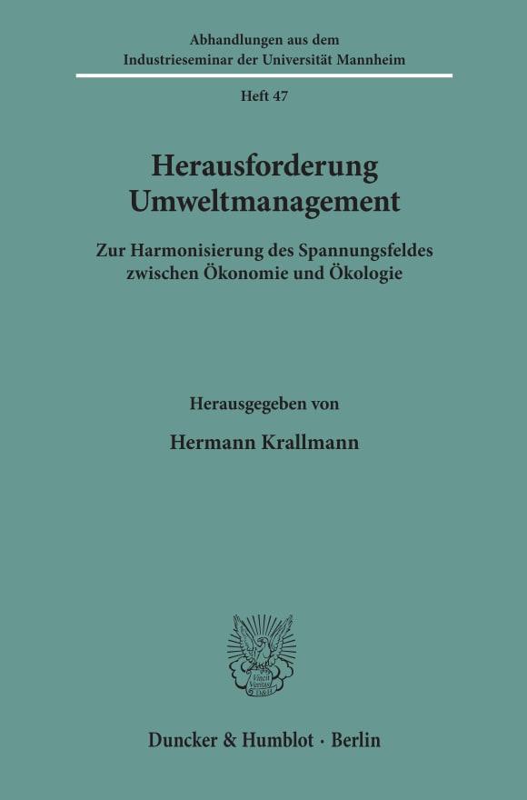 Cover Herausforderung Umweltmanagement