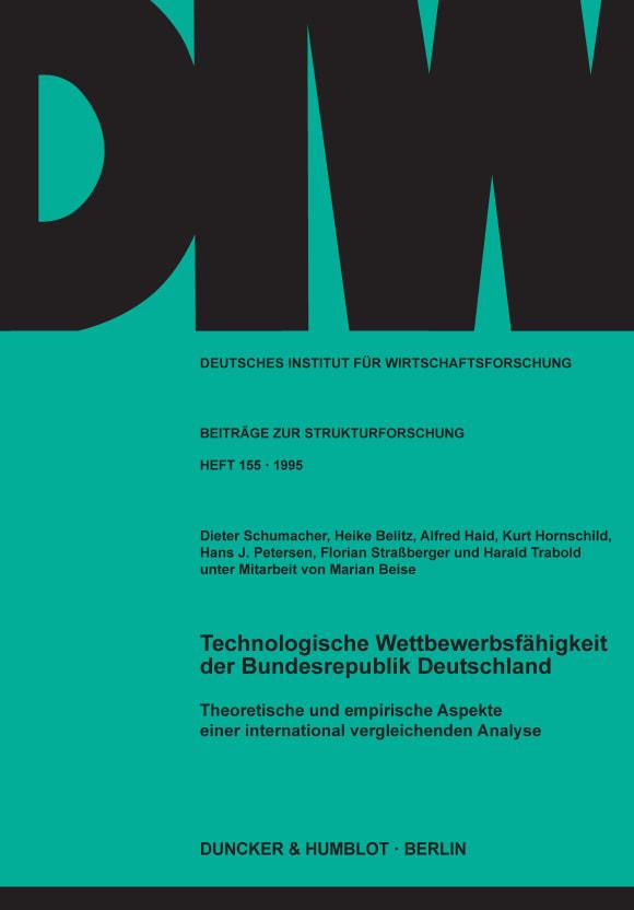 Cover Technologische Wettbewerbsfähigkeit der Bundesrepublik Deutschland