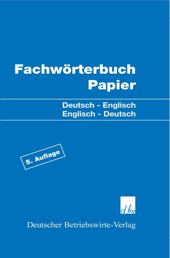 Cover Fachwörterbuch Papier