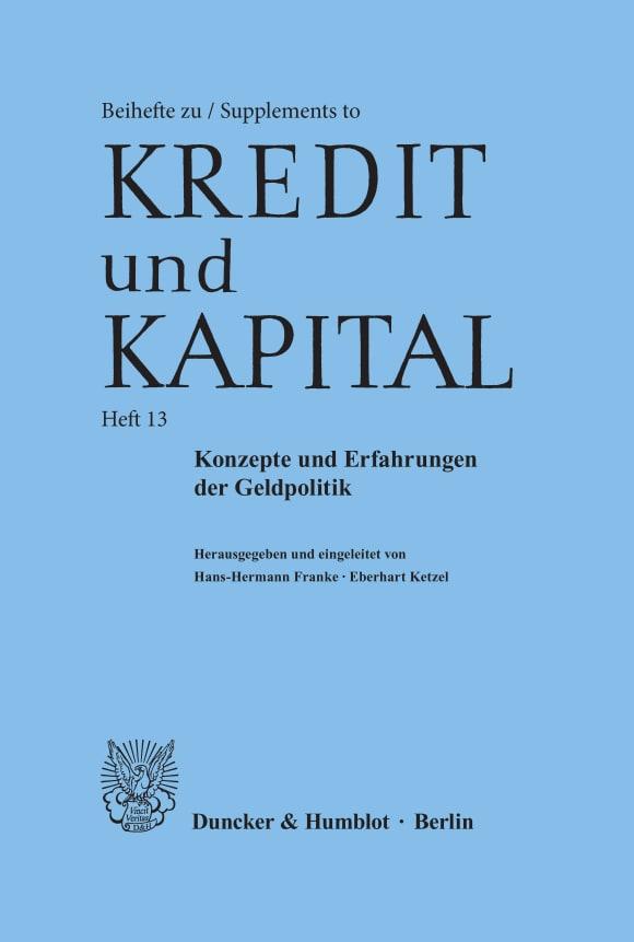 Cover Konzepte und Erfahrungen der Geldpolitik
