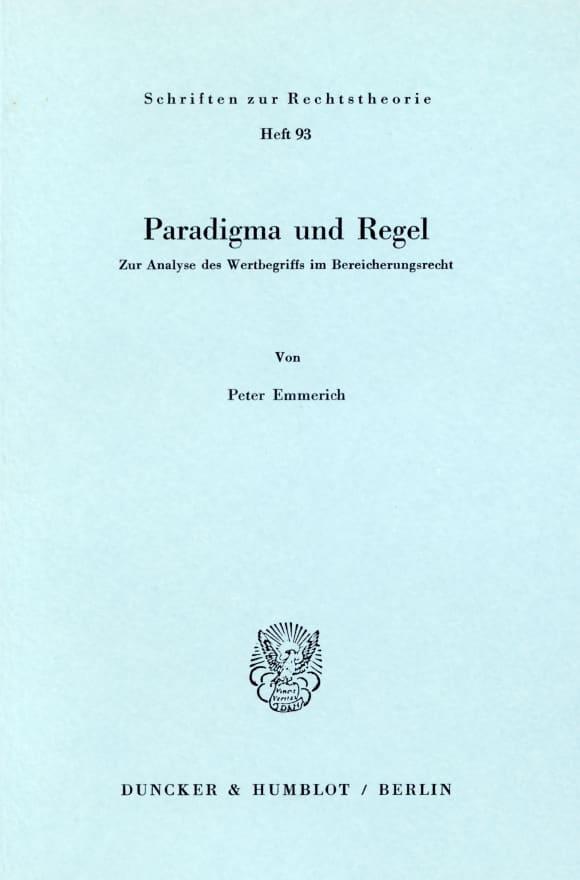Cover Paradigma und Regel