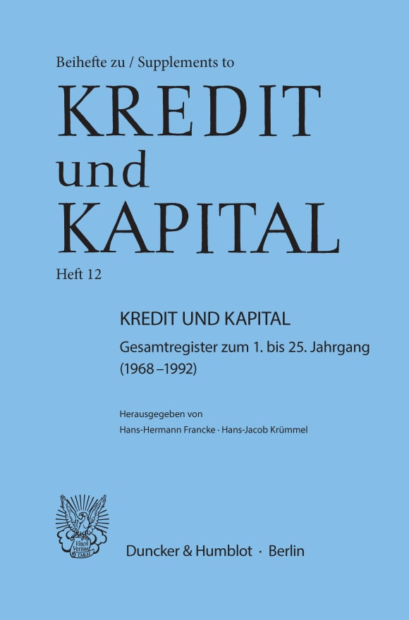 Cover Kredit und Kapital