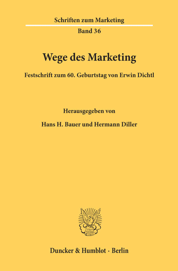 Cover Wege des Marketing