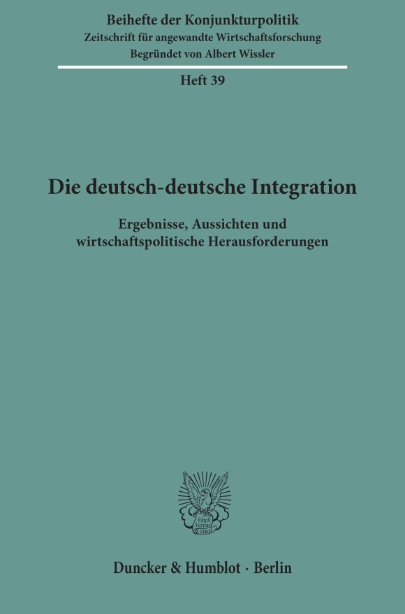 Cover Die deutsch-deutsche Integration