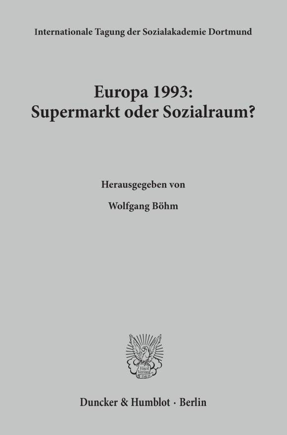 Cover Europa 1993: Supermarkt oder Sozialraum?