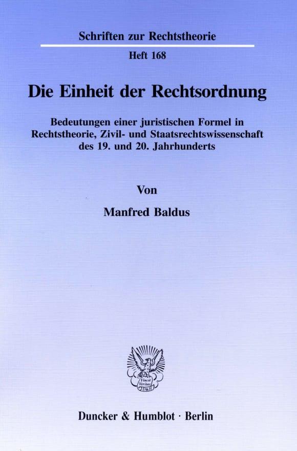 Cover Die Einheit der Rechtsordnung