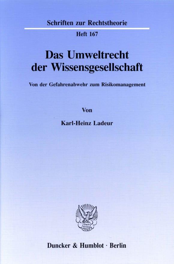 Cover Das Umweltrecht der Wissensgesellschaft