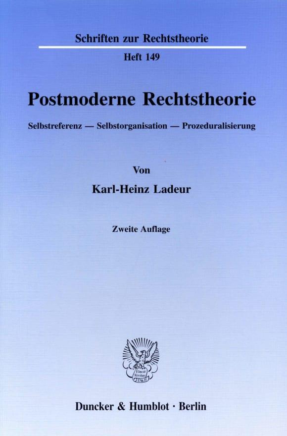 Cover Postmoderne Rechtstheorie