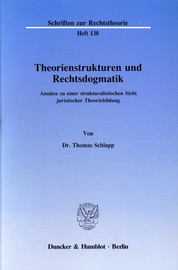 Cover Theorienstrukturen und Rechtsdogmatik