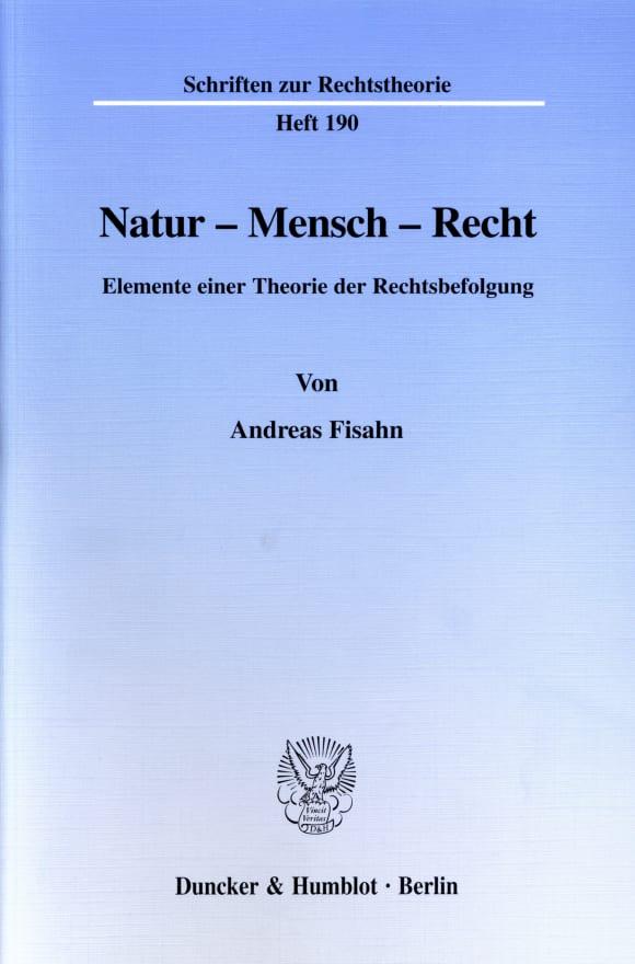 Cover Natur - Mensch - Recht