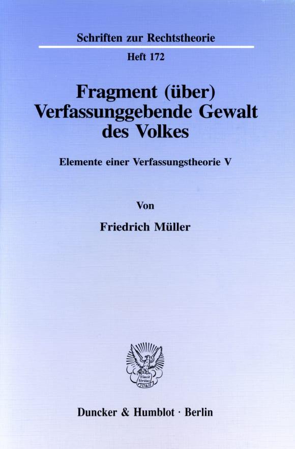 Cover Fragment (über) Verfassunggebende Gewalt des Volkes