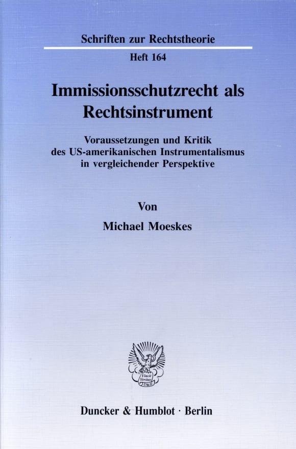 Cover Immissionsschutzrecht als Rechtsinstrument