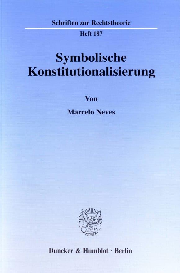 Cover Symbolische Konstitutionalisierung