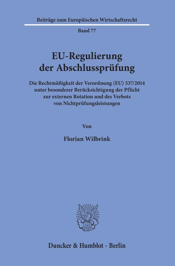 Cover EU-Regulierung der Abschlussprüfung