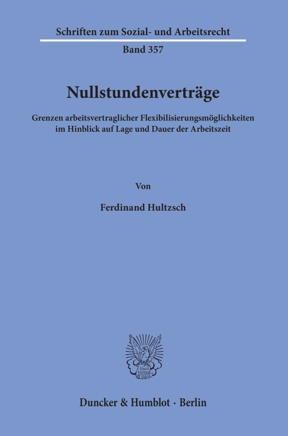 Cover Nullstundenverträge