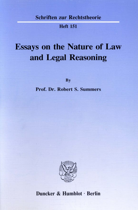 Cover Essays on the Nature of Law and Legal Reasoning