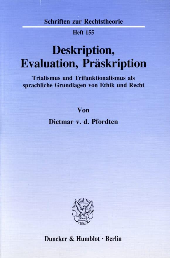Cover Deskription, Evaluation, Präskription