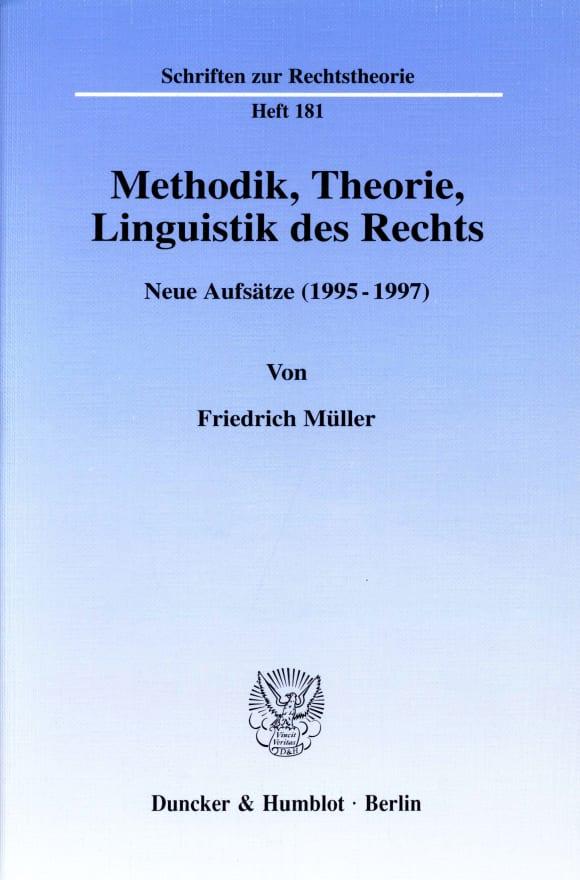 Cover Methodik, Theorie, Linguistik des Rechts