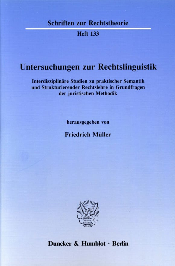 Cover Untersuchungen zur Rechtslinguistik