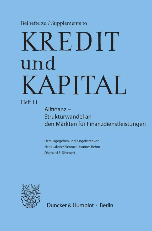 Cover Allfinanz – Strukturwandel an den Märkten für Finanzdienstleistungen