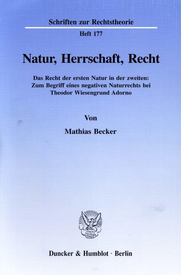 Cover Natur, Herrschaft, Recht