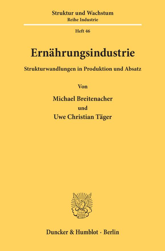 Cover ifo Struktur und Wachstum. Reihe Industrie (IFO I)