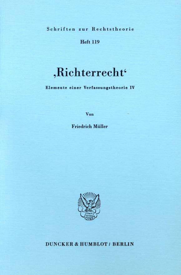Cover 'Richterrecht'