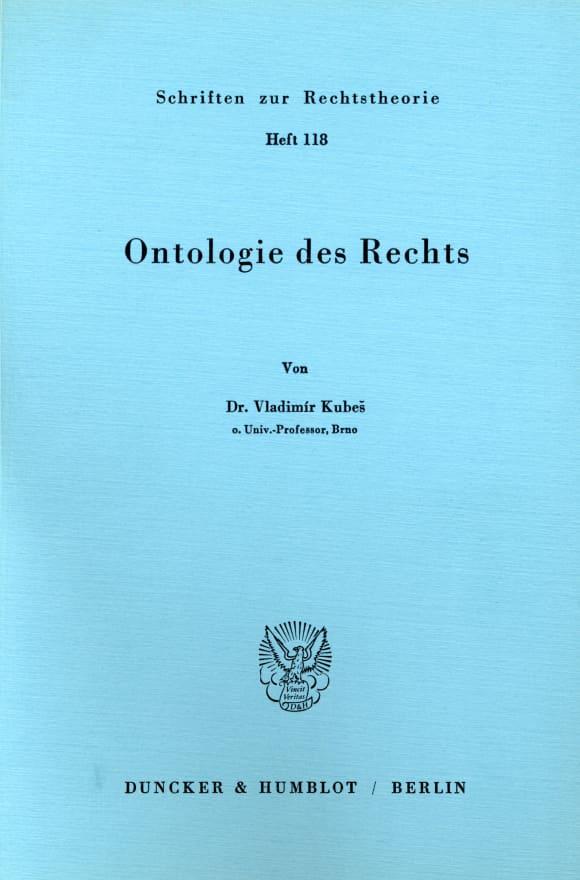Cover Ontologie des Rechts