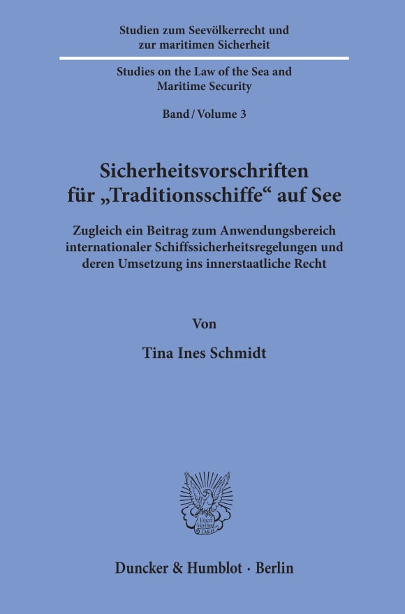 Cover Sicherheitsvorschriften für »Traditionsschiffe« auf See