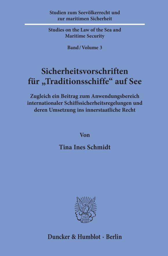 Cover Studien zum Seevölkerrecht und zur maritimen Sicherheit / Studies on the Law of the Sea and Maritime Security (SSMS)