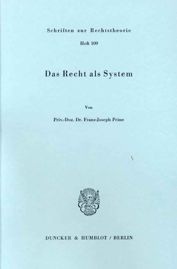 Cover Das Recht als System