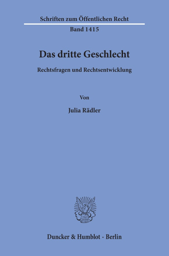 Cover Das dritte Geschlecht
