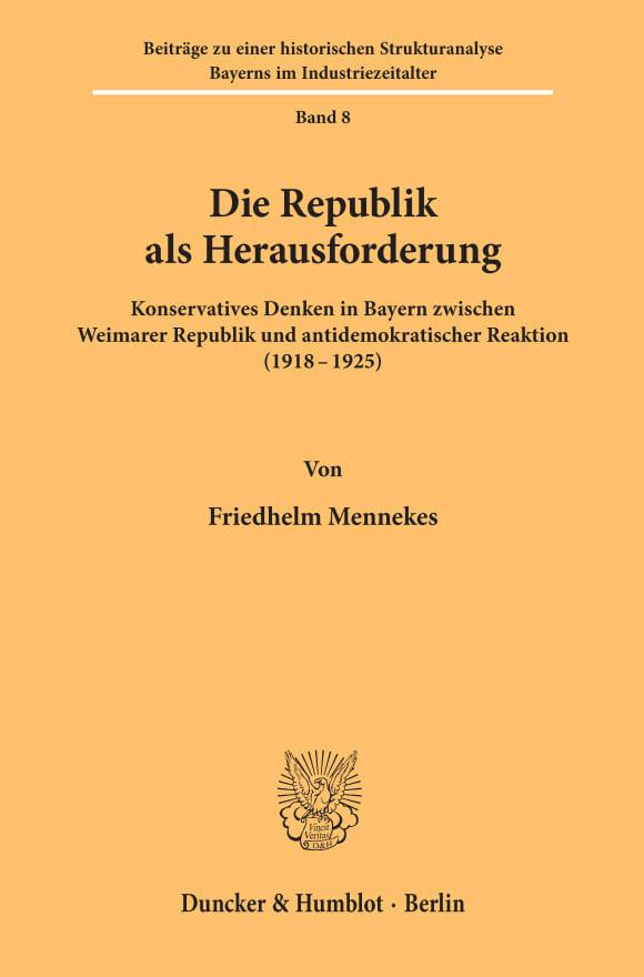 Cover Die Republik als Herausforderung