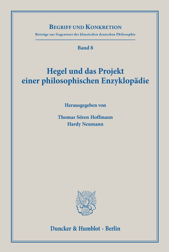 Cover Hegel und das Projekt einer philosophischen Enzyklopädie