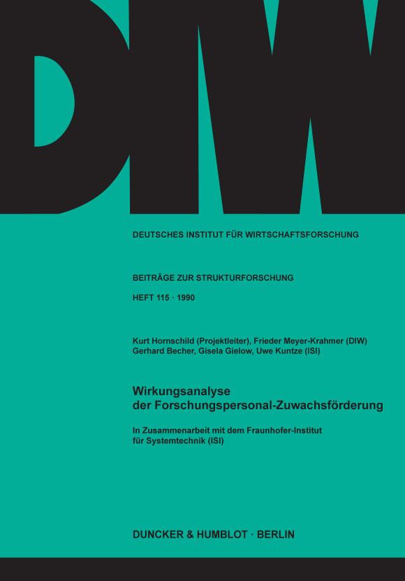 Cover Wirkungsanalyse der Forschungspersonal-Zuwachsförderung
