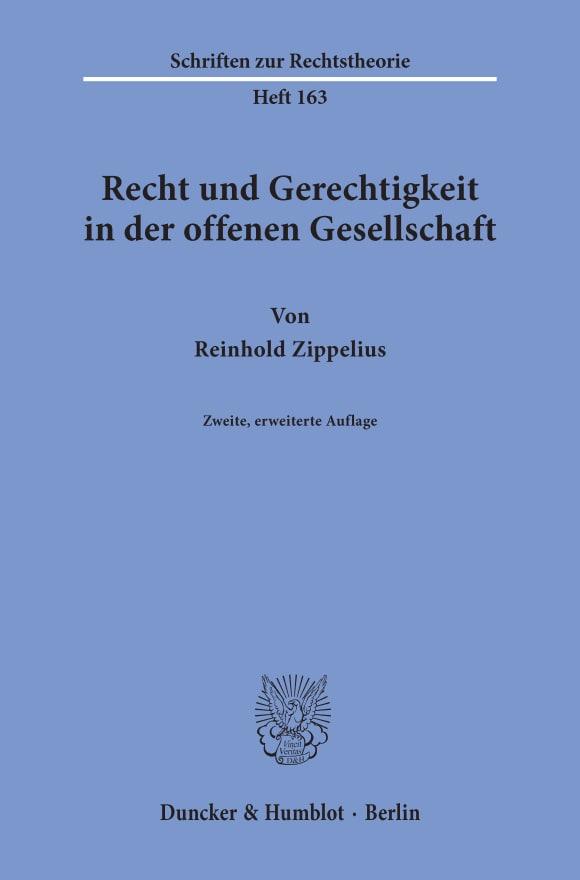 Cover Recht und Gerechtigkeit in der offenen Gesellschaft