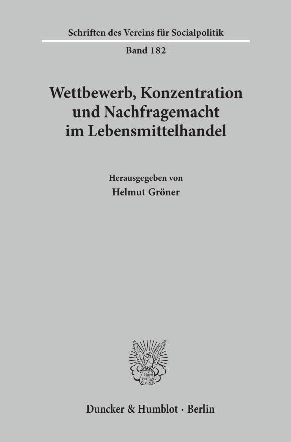 Cover Wettbewerb, Konzentration und Nachfragemacht im Lebensmittelhandel
