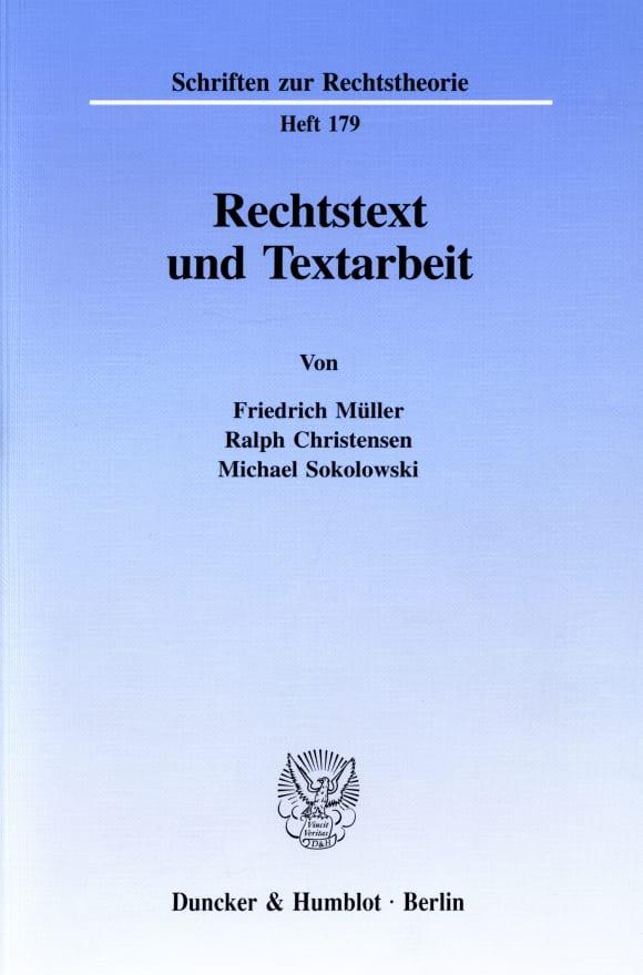 Cover Rechtstext und Textarbeit