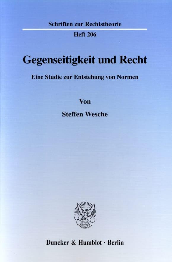 Cover Gegenseitigkeit und Recht