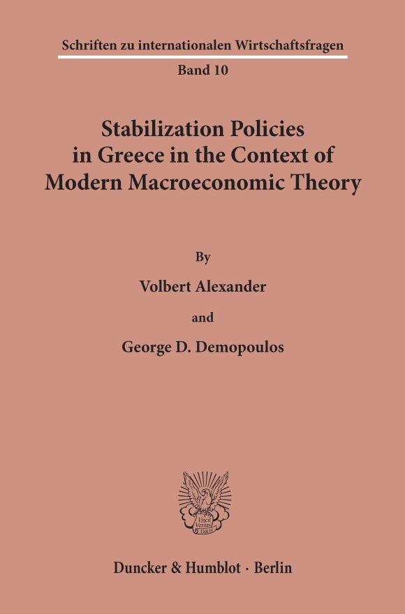 Cover Stabilization Policies in Greece in the Context of Modern Macroeconomic Theory