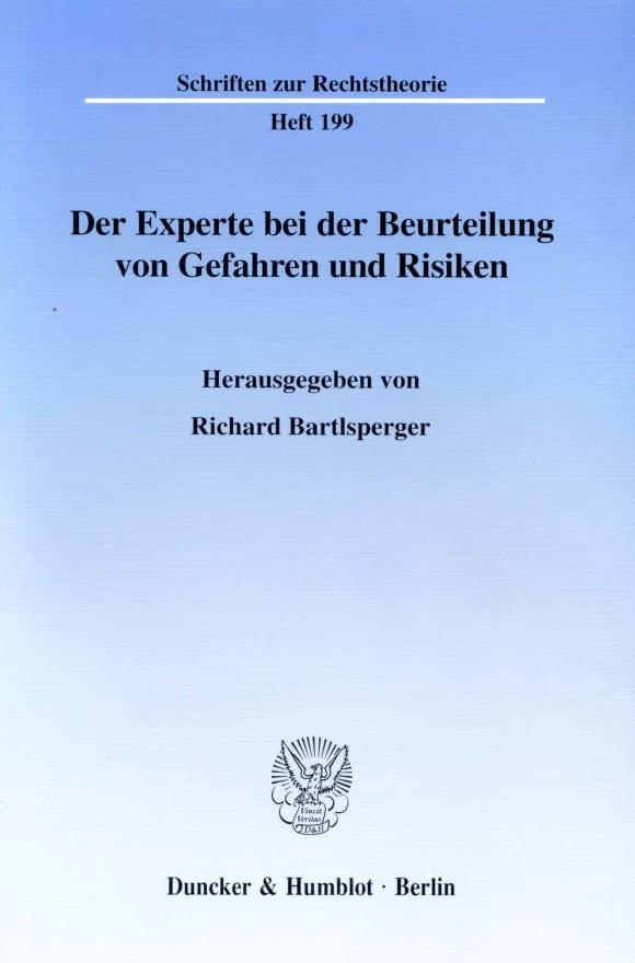 Cover Der Experte bei der Beurteilung von Gefahren und Risiken