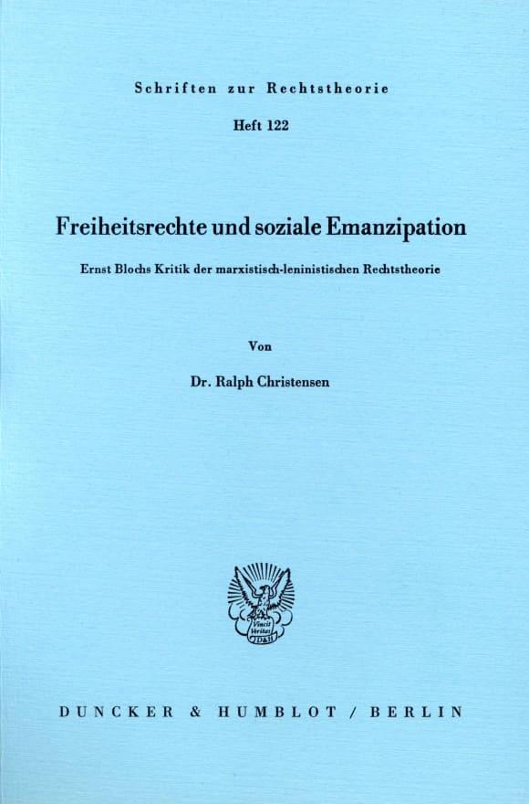 Cover Freiheitsrechte und soziale Emanzipation