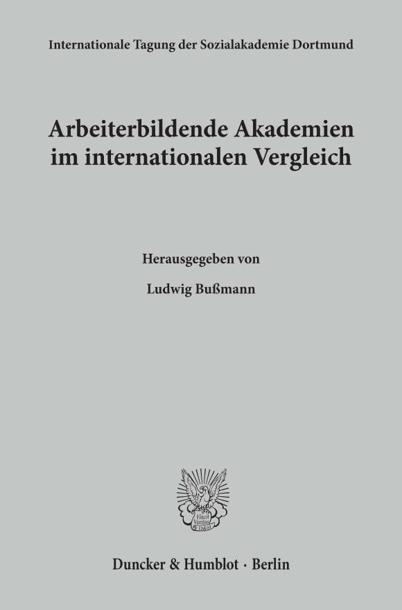Cover Arbeiterbildende Akademien im internationalen Vergleich
