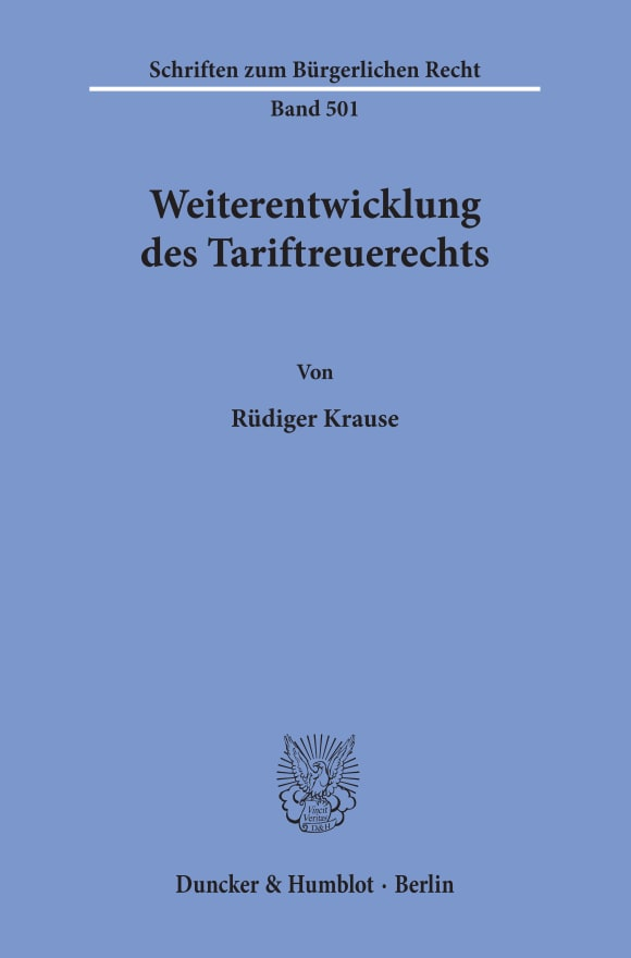 Cover Weiterentwicklung des Tariftreuerechts